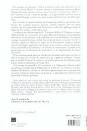 Groupes De Pression - 4ème de couverture - Format classique