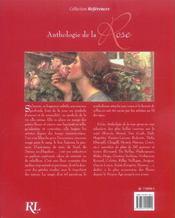 Anthologie De La Rose - 4ème de couverture - Format classique