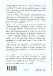 Les Reines De France Au Temps Des Valois - 4ème de couverture - Format classique