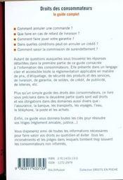 Le Guide Des Consommateurs - 4ème de couverture - Format classique