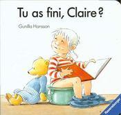 Tu As Fini Claire - Intérieur - Format classique
