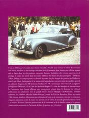 Jean Antem - carrosserie française - 4ème de couverture - Format classique