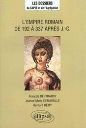 L'Empire Romain De 192 A 337 Apres J.-C. - Intérieur - Format classique