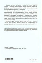 L'Empire Romain De 192 A 337 Apres J.-C. - 4ème de couverture - Format classique