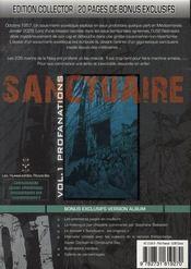 Sanctuaire reminded t.1 ; profanations - 4ème de couverture - Format classique