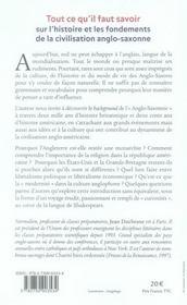 Petite histoire d'Anglo-Saxonnie - 4ème de couverture - Format classique
