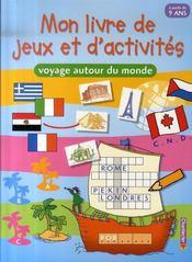 Mon livre de jeux et d'activités ; voyage autour du monde - Intérieur - Format classique