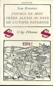 Voyage De Mon Frere Alexis Au Pays - Couverture - Format classique