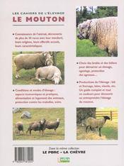 Les Cahiers De L'Elevage ; Les Moutons - 4ème de couverture - Format classique
