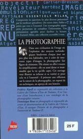 Photographie (La) - 4ème de couverture - Format classique