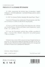 Proust Et La Femme Petomane - 4ème de couverture - Format classique