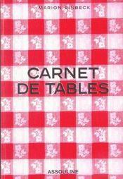 Carnet De Tables - Intérieur - Format classique