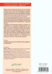 L'entreprise horticole ; approche globale et envirronnementale ; diagnostic - 4ème de couverture - Format classique