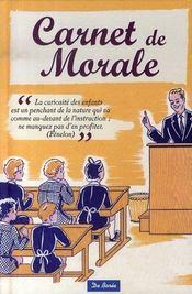 Carnet de morale - Intérieur - Format classique
