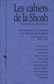 Cahiers De La Shoah No2 94/95 - Couverture - Format classique