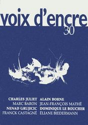 Revue voix d'encre t.30 - Intérieur - Format classique
