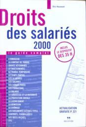 Droit des salaries 2000 - Couverture - Format classique