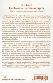 Les imaginaires médiatiques ; une sociologie postcritique des médias - 4ème de couverture - Format classique
