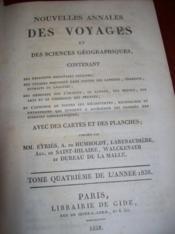 NOUVELLES ANNALES DES VOYAGES et des sciences géographiques.., T 80. - Couverture - Format classique