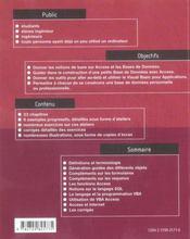 Introduction aux bases de données, access - 4ème de couverture - Format classique