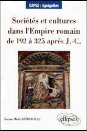 Societes Et Cultures Dans L'Empire Romain De 192 A 325 Apres J.-C.Capes/Agregation - Intérieur - Format classique