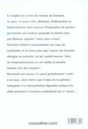 Cezanne En Provence - 4ème de couverture - Format classique