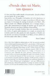 Prends Chez Toi Marie Ton Epouse - 4ème de couverture - Format classique