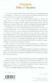 Infusions, Thes Et Tisanes - 4ème de couverture - Format classique