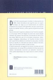 Les Relations Internationales De 1815 A Nos Jours T.2 ; Apres 1939 - 4ème de couverture - Format classique
