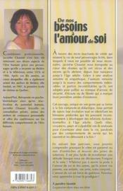De Nos Besoins A L'Amour De Soi - 4ème de couverture - Format classique