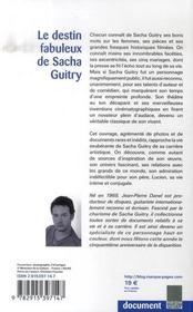Le destin fabuleux de Sacha Guitry - 4ème de couverture - Format classique