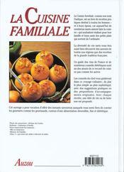 La Cuisine Familiale - 4ème de couverture - Format classique