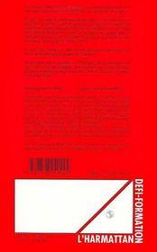 Des Outils Pour Un Projet De Formation : De La Representation Au Projet - 4ème de couverture - Format classique
