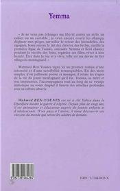 Yemma - 4ème de couverture - Format classique
