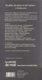 Revue La Pensee De Midi T.17 - 4ème de couverture - Format classique