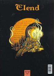 Elend T.1 ; Un Reve Bizarre - 4ème de couverture - Format classique