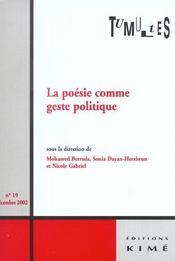 Tumultes n19 poesie comme geste politique - Intérieur - Format classique