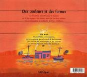 Des couleurs et des formes - 4ème de couverture - Format classique