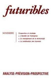 Futuribles N.137 Novembre 1989 - Couverture - Format classique