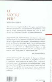 Le Notre Pere Reflechi Et Medite - 4ème de couverture - Format classique