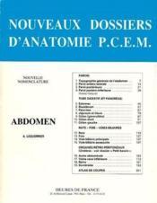 Nouveaux dossiers d'anatomie ; abdomen ; nouvelle nomenclature - Couverture - Format classique