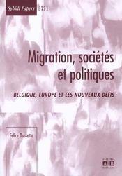 Migrations Societes Et Politiques Belgique Europe Et Les Nouveaux Defis - Intérieur - Format classique
