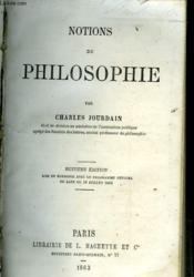 Notions De Philosophie - Couverture - Format classique