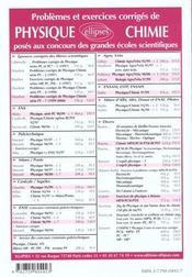 Problemes Corriges De Physique Centrale/Supelec Tome 5 1995-1999 - 4ème de couverture - Format classique