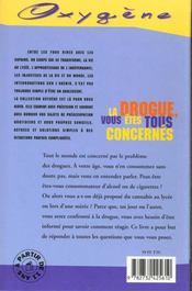 Drogue, Vous Etes Tous Concernes (La) - 4ème de couverture - Format classique