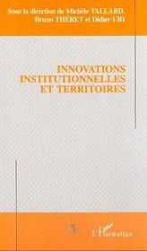 Innovation Institutionnelles Et Territoires - Intérieur - Format classique