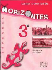 Horizontes 3e livret d'activite cameroun - Couverture - Format classique