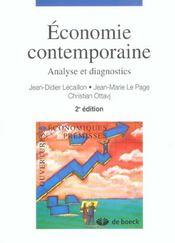Economie Contemporaine Analyse Et Diagnostics - Intérieur - Format classique