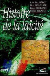 Histoire De La Laicite - Couverture - Format classique