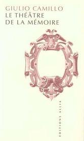 Le Theatre De La Memoire - Intérieur - Format classique